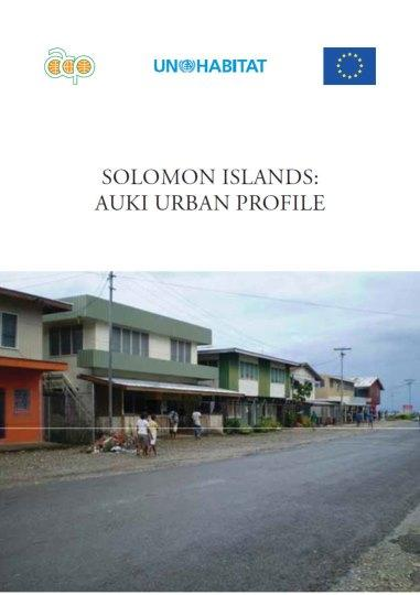 Solomon Islands: Auki Urban Profile